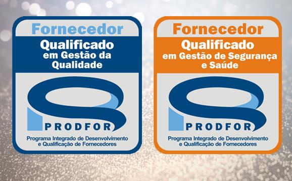 Pred é recertificada pelo Prodfor nos sistemas SGQF e SGSS